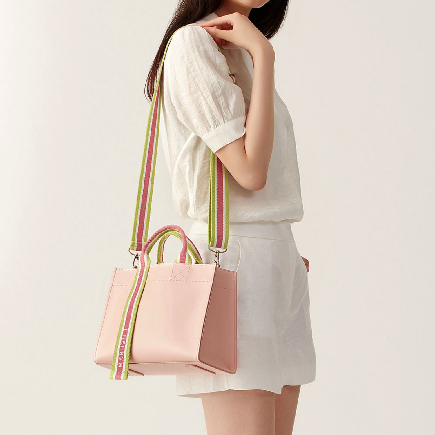 [1st][NEW] CINDY BAG PEACH PINK (Length adjustable strap is included)