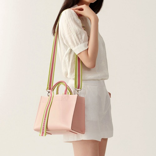 CINDY BAG PEACH PINK (Length adjustable strap is included)